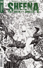 Image: Sheena Queen of the Jungle #2 (McKone b&w incentive cover - 02071) (25 Copy) - Dynamite