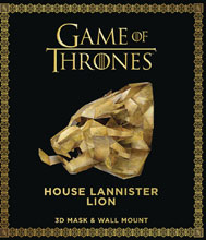 Image: Game of Thrones Mask with Book: House Lannister Lion  - Bantam / Spectra