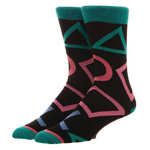 Image: Sony Playstation Crew Socks  (All Over Print) - Bioworld Merchandising