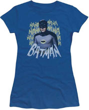 Image: Batman '66 Women's T-Shirt: Nanana [Royal Blue]  (M) - Trevco Sportswear