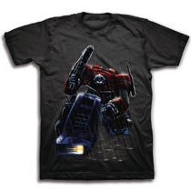 Image: Transformers T-Shirt: Dark Rain Optimus  (L) - Freeze Cmi