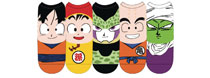 Image: Dragonball Z Low Cut Socks: Faces  (5-Pack) - Everything Legwear