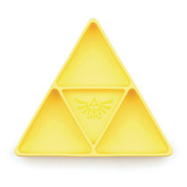 Image: Legend of Zelda Grip Dish Divided Plate: Triforce Yellow  - Bumkins Finer Baby Products