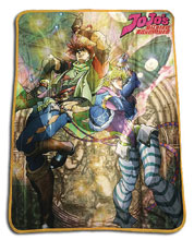 Image: JJBA: Jojo and Caesar Sublimation Throw Blanket  - Great Eastern Entertainment