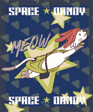 Image: Space Dandy Throw Blanket: Meow Sublimation  - Great Eastern Entertainment