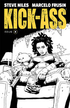 Image: Kick-Ass #8 (cover B - Frusin B&W)  [2018] - Image Comics