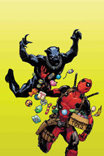 Image: Black Panther vs. Deadpool #1 (variant cover - Hamner) - Marvel Comics