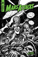 Image: Mars Attacks #1 (incentive cover - Mandrake B&W) (10-copy) - Dynamite
