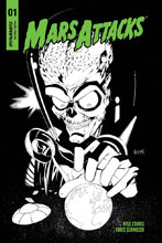 Image: Mars Attacks #1 (incentive cover - Coleman B&W) (30-copy)  [2018] - Dynamite
