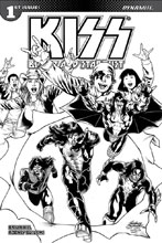 Image: Kiss: Blood and Stardust #1 (incentive cover - Buchemi B&W) (10-copy) - Dynamite