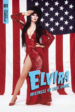 Image: Elvira: Mistress of Dark #1 (variant cover - Stars Stripes Photo) - Dynamic Forces