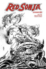 Image: Red Sonja Vol. 04 #22 (incentive cover - Mandrake B&W) (25-copy) - Dynamite