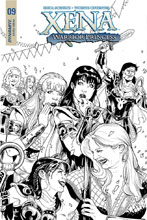 Image: Xena: Warrior Princess Vol. 02 #9 (incentive cover E - B&W) (25-copy) - Dynamite