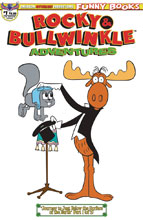 Image: Rocky & Bullwinkle Adventures #1 (variant cover - Retro Animation) - American Mythology Productions