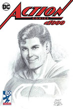 Image: Action Comics #1000 (DFE variant cover - Snyder B&W wraparount) (DFE signed - Various) - Dynamic Forces