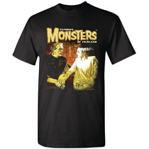Image: Frank and Bride Forever T-Shirt  (L) - Famous Monsters of Filmland