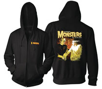 Image: Frank and Bride Forever Hoodie  (L) - Famous Monsters of Filmland