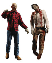 Image: One-12 Collective Dawn of Dead Action Figure 2-Pack: Fly Boy & Plaid Zombie  - Mezco Toys