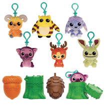 Image: Funko Monsters 9-Piece Plush Keychain Blind Mystery Bust Display  - Funko