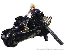 Image: Final Fantasy VII: Ac Play Arts Kai Action Figure - Cloud Strife & Fenrir  - Square Enix Inc