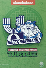 Image: Teenage Mutant Ninja Turtles Pin: Leonardo Lighting the Menorah  - Zen Monkey Studios LLC