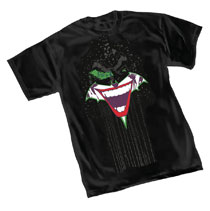 Image: Batman T-Shirt: The Joker Grin  (L) - Graphitti Designs