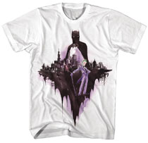 Image: Batman T-Shirt: Batman X Joker Watercolor [White]  (S) - New Moda LLC