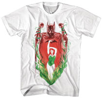 Image: Batman T-Shirt: Batman X Poison Ivy Watercolor [White]  (L) - New Moda LLC
