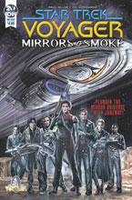 Image: Star Trek: Voyager - Mirrors & Smoke  (cover A - Woodward) - IDW Publishing