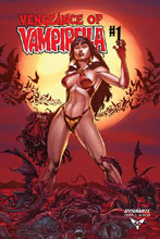 Image: Vengeance of Vampirella Vol. 02 #1 (incentive 1:40 cover - Buzz Blood Moon) - Dynamite