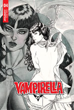 Image: Vampirella Vol. 05 #4 (incentive 1:50 cover - March B&W)  [2019] - Dynamite