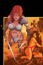 Image: Vampirella / Red Sonja #2 (incentive 1:30 cover - Moss virgin) - Dynamite