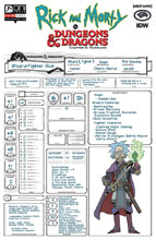 Image: Rick and Morty vs. Dungeons & Dragons II: Painscape #2 (cover C - Character Sheet) - Oni Press Inc.