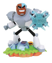Image: DC Teen Titans Go! Gallery PVC Figure: Cyborg  - Diamond Select Toys LLC