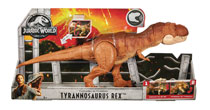 Image: Jurassic World Thrash N Throw T-Rex Figure Case  - Mattel Toys