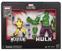 Image: Marvel Legends 80th Ann Wolverine/Hulk 6-Inch Action Figure Set Case  - Hasbro Toy Group