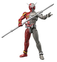 Image: Kamen Rider Double Fig-Rise Standard Model Kit: Heat Metal  - Bandai Hobby