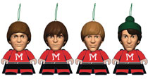 Image: Monkees Titans Monkeemen Christmas Tree Vinyl Figure 4-Pack  (3-Inch) - Titan Merchandise
