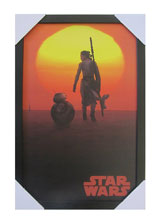 Image: Star Wars Framed Print: BB-8 and Rey Sunset  (11x17) - Pyramid America, Lp