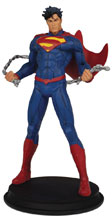 Image: DC 9 Inch Statue: Superman Unchained  - Icon Heroes