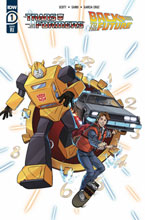 Image: Transformers / Back to the Future #1 (incentive 1:10 cover - Schoening) - IDW Publishing
