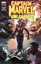 Image: Captain Marvel #22 (variant Captain Marvel Unleashed Horror cover - Clarke) - Marvel Comics