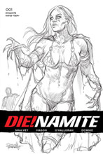 Image: Die!namite #1 (incentive 1:50 cover - Parrillo B&W) - Dynamite