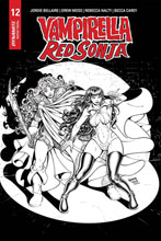 Image: Vampirella / Red Sonja #12 (incentive 1:15 cover - Robson B&W Homage) - Dynamite