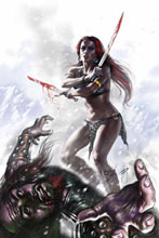 Image: Red Sonja: Revenge of the Gods #1 (25-copy Parrillo virgin incentive cover) (v25) - D. E./Dynamite Entertainment