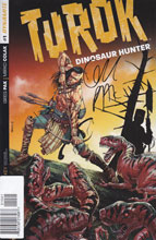 Image: Turok: Dinosaur Hunter #1 (100-copy incentive cover - Pak Rare signed) - Dynamite