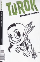 Image: Turok: Dinosaur Hunter #1 (400-copy incentive cover - Haeser Sketch) - Dynamite