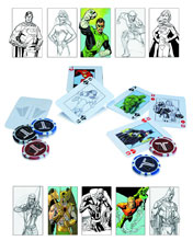 Image: DC Collectibles Justice League Playing Cards & Chips  - DC Comics