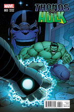 Image: Thanos vs. Hulk #3 (variant incentive cover - Lim) (25-copy) - Marvel Comics
