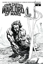 Image: John Carter, Warlord of Mars #4 (variant incentive cover - Sears B&W) (10-copy) - Dynamite